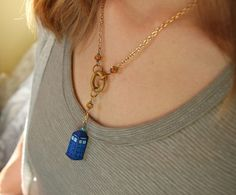 Tardis necklace