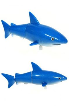 $3 Swift the Blue Shark Wind Up Water Fun | Water Guns & Wet Fun | TinToyArcade |