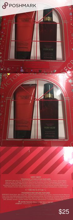 Victortia secrets very sexy gift set Very sexy gift set. Purfume 3.4 oz and lotion 2.5 oz Accessories