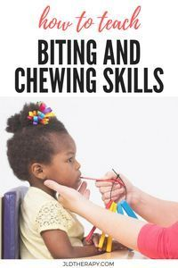 How to Teach Biting and Chewing Skills in children who are having trouble eating or are showing signs of delayed speech. Feeding Therapy Activities, Oral Motor Activities, Occupational Therapy Activities, Physical Education Games, Health Education, Physical Activities, Science Education, Speech Language Therapy, Speech Language Pathology