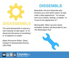 Disassemble vs. Dissemble Sarah Huckabee Sanders, Learn English Words, Vocabulary, Feelings, Learning, Studying, Teaching, Education, Vocabulary Words