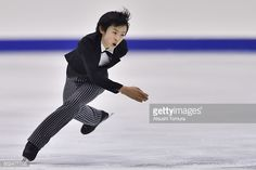 Koshiro Shimada of Japan competes in the Men free skating during the day two of the 2015 Japan Figure Skating Championships at the Makomanai Ice...