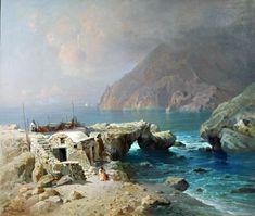 Petruolo Salvatore (Catanzaro 1857 - Napoli 1946) Lo scoglio delle sirene a Capri