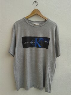 Calvin Klein Jeans 1995 CKJ Box Logo Chest Vintage 90s T-Shirt Unisex Size S-M by BubaGumpBudu on Etsy