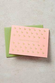 Thank You, Pretty Lady Card