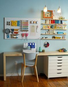office inspiration: sewing space