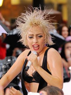Lady Gaga with crazy hair