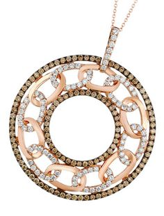 Coming this fall…Le Vian Chocolatier® Long Links™ pendent necklace (YQII 1) with Chocolate Diamonds® and Vanilla Diamonds® in Strawberry Gold®.