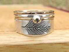 silver/gold stacking rings