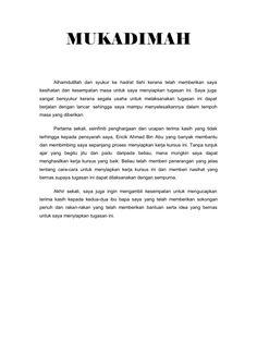 Contoh Mukadimah Pidato