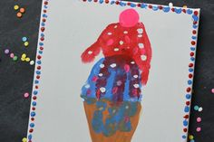 Kid's Handprint Ice Cream Art | Happy Crafting | Blitsy