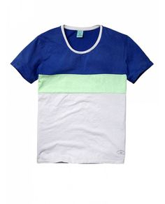 Colour block crew neck tee - T-shirts - Official Scotch & Soda Online Fashion & Apparel Shops