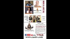 August 7, 2020  - The CAOT TV  Show on the WBGR Gospel Network Authors, Tv Shows, Christian, Books, Livros, Libros, Book, Writers, Book Illustrations