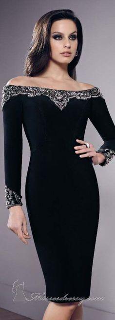 Matte Jersey Long Sleeve Dress by Mori Lee VM #cocktail #sexy #elegant #black #dress <3 love this
