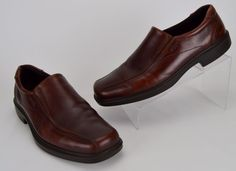 ECCO Men's 13-13.5 M Solid Brown Leather Bicycle Toe Loafer Shoe Eur 47 #ECCO…