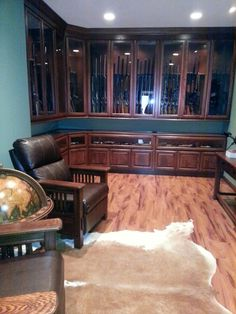 Amusing Gun Cabinet Ideas For Wonderful Look Of House Interior: Perfect Gun  Cabinet Furniture Used Traditional Style Made From Wooden Materi. Part 63