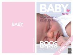 Eigen Foto Orgineel Geboortekaartje Meisje Glozzy Magazine. Birth Announcement Card.