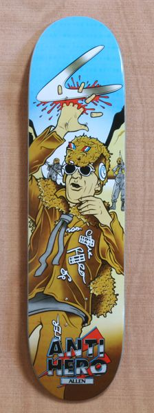 "Anti Hero Allen Wasteland 8.06"" Skateboard Deck"