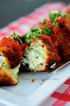 ... Ripieni Polpette di Melanzane (ricotta stuffed eggplant meatballs