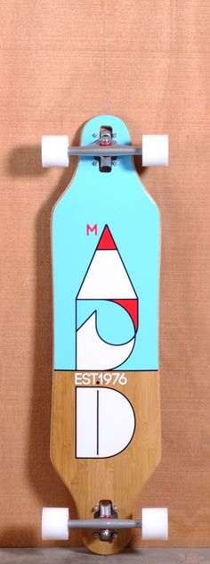 The Madrid Cut Longboard Complete Longboard Design, Longboard Decks, Skateboard Design, Longboarding, Wakeboarding, Long Skate, Cruiser Boards, Relaxing Art, Animal Graphic