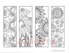 Printable Bookmarks to Color - FamilyFunColoring | 네일 ...