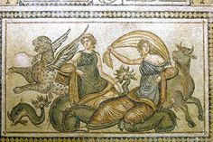 Zeus & Europa - one of several newly discovered Roman mosaics in Turkey. Stunning! ~ETS