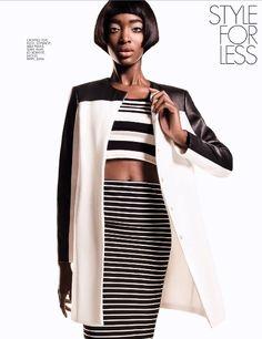 Elle South Africa-August 2013  Black & White: Gaye McDonald