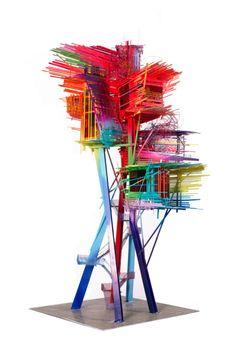 Model of a Metal Stilthouse Brazil, 2015 - Arne Quinze. Artists on tumblr