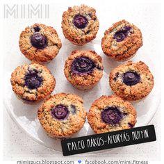 Paleo mákos-áfonyás muffin
