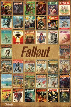 Fallout 4 Magazine Compilation - Official Poster. Official Merchandise. Size: 61cm x 91.5cm. FREE SHIPPING