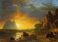 Sunset on the Coast   by Albert Bierstadt