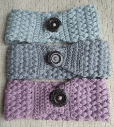 Crochet Headband Materials: – Any medium worsted yarn. – Hook size I – Blunt needle – Large butt… - My Favorite Crochet Headband Free Pattern Materials: – Any medium worsted yarn. – Hook size I – Blunt needle – [. Bandeau Crochet, Crochet Headband Free, Free Crochet, Knit Crochet, Crocheted Headbands, Sewing Headbands, Crocheted Hats, Crochet Stitch, Crochet Fingerless Gloves Free Pattern