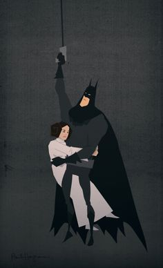 Batman/Star-Wars Mash-Up Art
