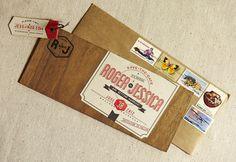 Flourish Letterpress and Wood Wedding Invitations