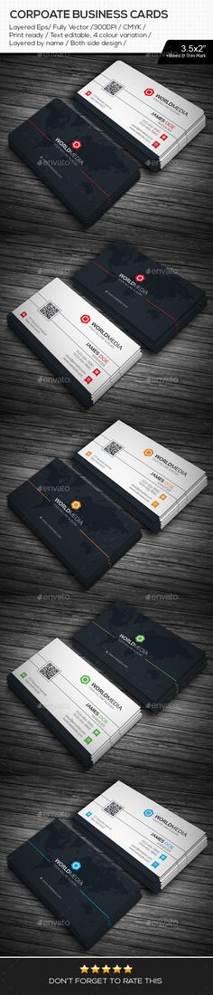 World Media Corporate Business Cards Template