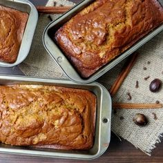 It's not the holidays without Aunt Lynne's famous pumpkin bread - this recipe makes three loaves -- enough to enjoy yourself and share with friends!