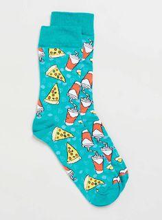 Pizza And Pop Mint Socks