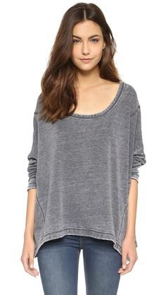 Free People Little Ann Solid Pullover