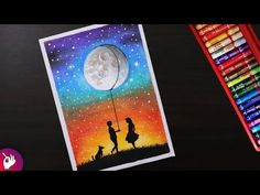 Drawing For Beginners Romantic Scenery drawing for beginners with oil pastels - Boy Giving gif. Oil Pastel Paintings, Oil Pastel Art, Oil Pastel Drawings, Horse Paintings, Art Drawings, Oil Pastel Landscape, Abstract Landscape, Drawing Scenery, Oil Pastel Colours