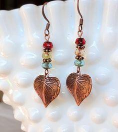 Blue Chandelier Earrings Personalized Gift Eternity Boho Infinity Copper Earrings Long Celtic Inspired Copper Chandler Earrings