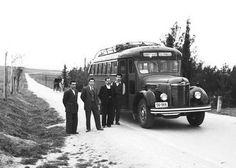 Λεοφωρείο Λάρισα Τρίκαλα 1950 φωτ.Τάκη Τλούπα