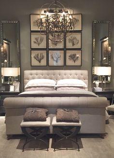 Luxury Bedroom | www.openplanliving.net | #openplanliving #luxurybedroom #interiordesign