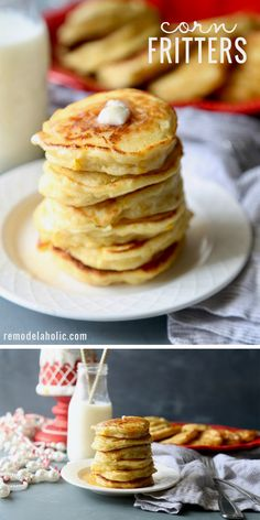 A yummy take on breakfast. Try this recipe for corn fritters at Remodelaholic.com #Breakfast #Food #Fritters Creamed Corn Fritters Recipe, Cream Corn Fritters, Sweet Corn Fritters, Corn Fritter Recipes, Creamed Corn Recipes, Snack Recipes, Dessert Recipes, Cooking Recipes, Snacks