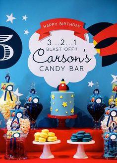 3, 2, 1 Blast Off Space Rocket Themed Candy Bar + Party via Kara's Party Ideas KarasPartyIdeas.com #rocketshipparty #spacepartyideas #spaceparty #321blastoff (3)