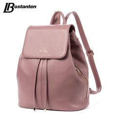 BOSTANTEN Fashion Designer Cow Genuine Leather Women Backpack Drawstring School Bags For Teenagers Girls Female Travel BackPack