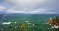Under the Rainbow: Miners Castle, Pictured Rocks National Lakeshore.