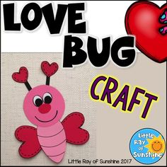 This cute little Love Bug is perfect for your Valentine's Day lessons & it's suitable for many grade levels! This resource contains everything you need to make this craft. You can copy the pages onto colored paper or use them as templates to trace the shapes. After the students assemble their Love Bug, the can draw a mouth with crayons, colored pencils or markers.