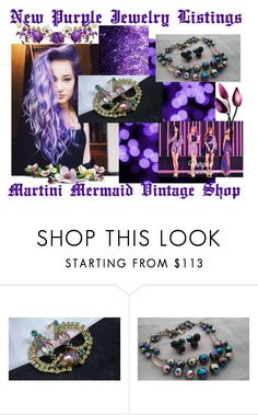 """""""New Purple Jewelry Listings..."""" by martinimermaid ❤ liked on Polyvore featuring vintage"""