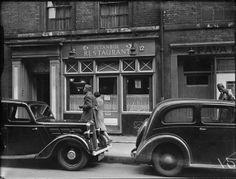 The Istanbul Restaurant at 12 Frith Street, Soho. 1943