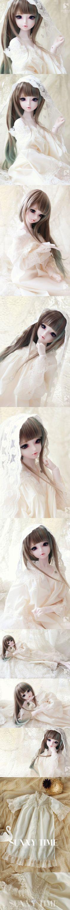 ドール服 SDサイズ人形用 パジャマ 白色